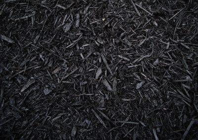 close up of black mulch