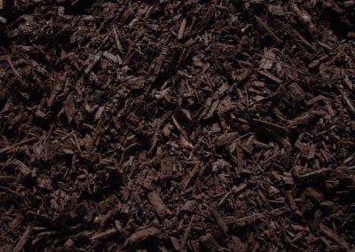 close up of brown mulch