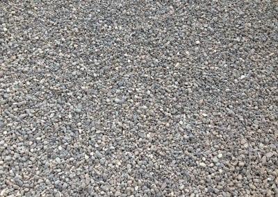 close up of pea gravel