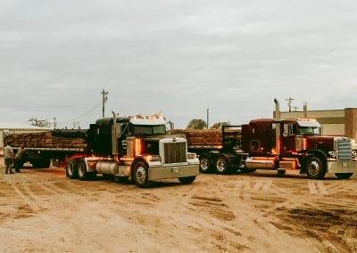 semi trucks with sod